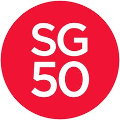 50 Years of Singapore Independence or dynamic logo 50th Anniversary Logo, Asia Cruise, Happy National Day, Dynamic Logo, The Draw, Cool Countries, Poster Making, Timeline Photos, A Team