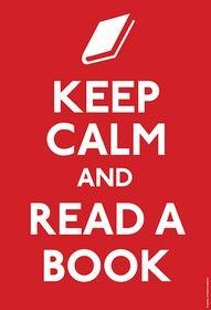 ruhig bleiben, buch lesen.