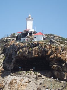 Cape St. Blaise Lighthouse and cave, Mossel Bay