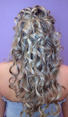 Half up hair by Lauren Morris of Axle Color Studio www.axlecolorstudio.com