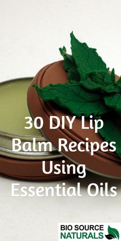 30 DIY Lip Balm Recipes Using Pure #EssentialOils.  Make your own lip balm and give as gifts.