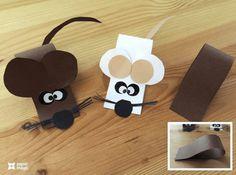Kerajinan kreatif anak kertas lipat bentuk hewan tikus
