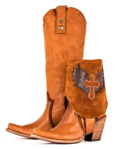 Corral Women's Tan-Brown Wing Cross Convertible Cowgirl Boot - C2213 http://www.countryoutfitter.com/products/31034-womens-tan-brown-wing-cross-conv-c2213?code=20130911W10 #cowgirlboots