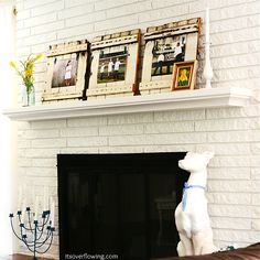 Spring Chic Picket Mantel - Its Overflowing