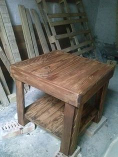 Recycled Pallet Table #Furniture, #Pallet, #Table, #Wood