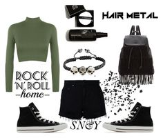 """""""8"""" by sicksense on Polyvore featuring moda, WearAll, Nobody Denim, Glamorous, Converse i rockerstyle"""