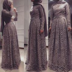 Hijab Prom Dress, Dress Brukat, Hijab Evening Dress, Muslim Dress, Evening Dresses, Most Beautiful Dresses, Elegant Dresses, Cute Dresses, Abaya Fashion