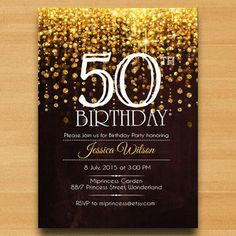 50th birthday invitations for a man - Google Search