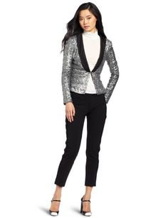 D.E.P.T. Women's Shimmer Sequins Blazer « Store Break