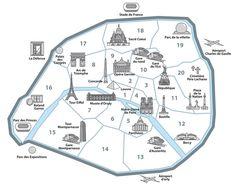 Carte des arrondissements de Paris