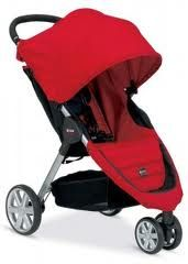 Britax B-Agile  See review at http://www.craftyshopper.com/top-10-best-lightweight-strollers/