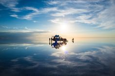 """""""Salar de Uyuni is miracle. I was so moved of this landscape. I walked away from the car and took this photo with complete silence."""" Location: Uyuni, Bolivia National Geographic Traveler Photo Contest"""