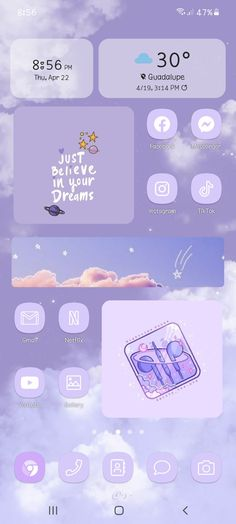 aesthetic phone pastel purple theme 💜