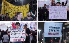 Designers criam cartazes criativos para serem usados nos protestos pelo Brasil