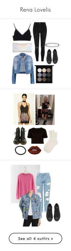 """Rena Lovelis"" by bxndsandsuch ❤ liked on Polyvore featuring T By Alexander Wang, River Island, Converse, ban.do, 7 For All Mankind, MAC Cosmetics, Forever 21, Dr. Martens, Ted Baker and Johnstons of Elgin"