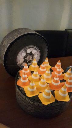 mini traffic cones for pixar car party # pixar cars party box cone favor box tire cars party decoration favor box Mini Cones, Cars Party Favors, 1st Birthday Parties, Birthday Cake, Race Party, Diy Car, Favor Boxes, Hot Wheels, Birthdays