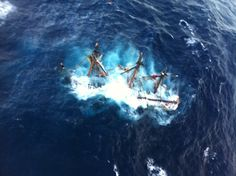 HMS Bounty Submerged - 180 ft sailboat Atlantic Ocean SE of Hatteras NC - Hurricane sandy Oct 30, 2012