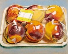Peaches - Janet Fish, 1971 I actually thought it was real at first.