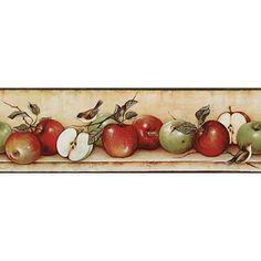 Apples and Birds Wallpaper Border
