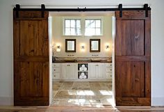 """2 Likes, 1 Comments - BB Property Solutions (@bbpropertysolutions) on Instagram: """"Considering a bathroom remodel? What's your take on these barn doors? Yay or Nay?…"""""""