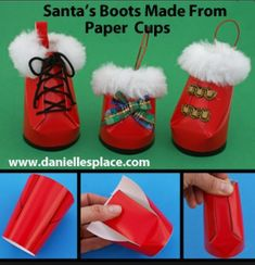 Santa Boots Made Out Of Paper Cups   Trusper