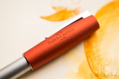 Great overview video/blog on the Faber-Castell Loom fountain pen. Really digging this orange color!