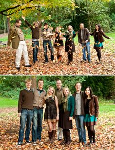 The Rollins Family {Seattle Family Photographer} co-ordinated colors for fall pix