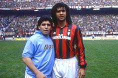 Diego Maradona y Ruud Gullit