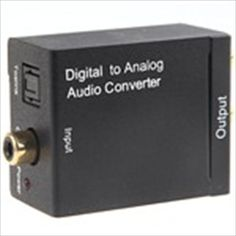 Digital Coaxial Toslink Audio Signal to Analog RCA Audio Converter Adaptor