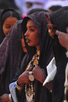 Africa | Photo taken at the famous yearly Tuareg Sebedi festival.  Oasis town of Djanet, South Region of Tassili, Algeria | © Giuglio Gil