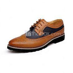 HerrenLässig-Leder-Niedriger Absatz-Komfort Bullock Schuhe-Schwarz Braun Gelb - EUR €33.31 ! ARTIKEL! Heiße Artikel zu unglaublich niedrigen Preisen sind jetzt im Angebot! Komm und schau sie dir, zusammen mit anderen Produkten an. Großartige Rabatte, Prämien für jeden deiner Einkäufe!