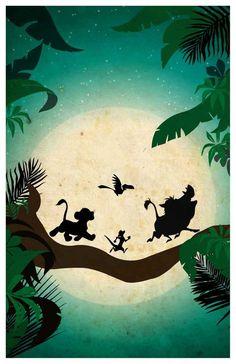 Affiche du film Disney le Roi Lion | Etsy