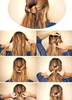 Step by step braided bun - Hairstyles for School Pony Hairstyles, Fast Hairstyles, Hairstyles For School, Pretty Hairstyles, Hairstyle Ideas, Cheer Hair, Pinterest Hair, Tips Belleza, Hair Dos