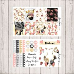 New Year Planner weekly Sticker kit/New year planner