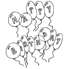 FREE Birthday Balloons Coloring Page