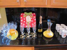 Santa Baby Christmas Brunch Party - Mimosas