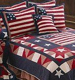 I love a red white and blue bedroom!