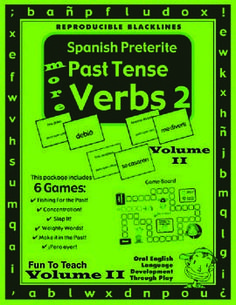 2nd Grade through 8th grade                     This 28-page Spanish game packet contains 6 great Spanish games/activities on preterite past tense verbs.  These Spanish grammar games and activities give students the Spanish oral language practice they need to master Spanish preterite past tense verbs and vocabulary in Spanish. $