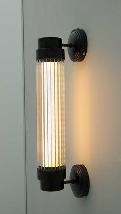 Aplique pared cilindro cristal rallado - Lámparas