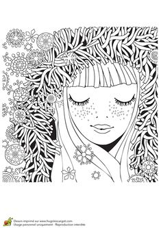 Free Printable Winter Coloring Pages EBook For Use In Your Classroom Or Home From PrimaryGames Print And Color This Girl Fluffy Hood Page