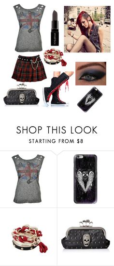 """badass chick"" by anna-fuentes-sykes ❤ liked on Polyvore featuring Abbey Dawn, Kat Von D, Casetify and Smashbox"
