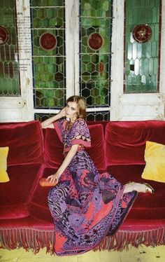 this dress is the colors of my LIFE.    Iekeliene Stange / Vogue Nippon December 2008