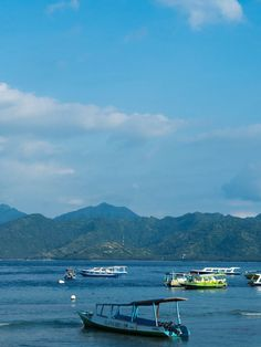 View from Gili T on Lombok, Mentigi Bay.