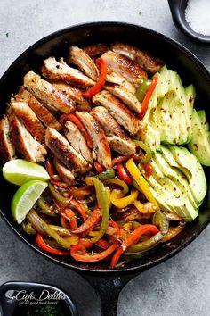 Best Chicken Fajitas - Cafe Delites Frugal Meals, Budget Meals, Easy Meals, Freezer Meals, Planning Budget, Meal Planning, Healthy Recipes On A Budget, Inexpensive Meals, Chicken Fajitas