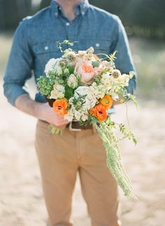 Like this bouquet, minus the trailing bit
