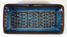 soholm blue series oblong tray n° 3338