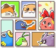 Animal buddies in Kirby's Dreamland Three. Chuchu looks very stunning!