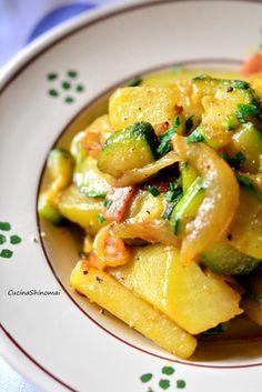 ズッキーニとジャガイモのカレー風味|レシピブログ