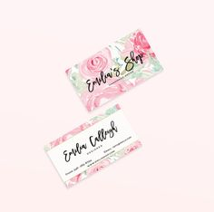 Watercolor Business Cards Floral Business by GoldenStreetsDesign