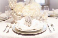 White Pinecones